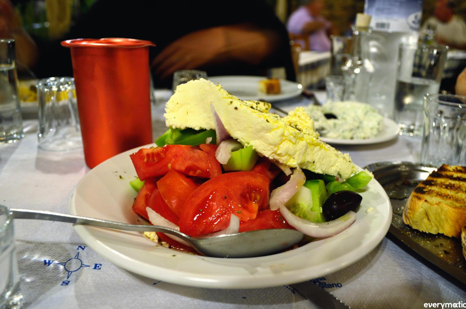 The ubiquitous Greek salad.