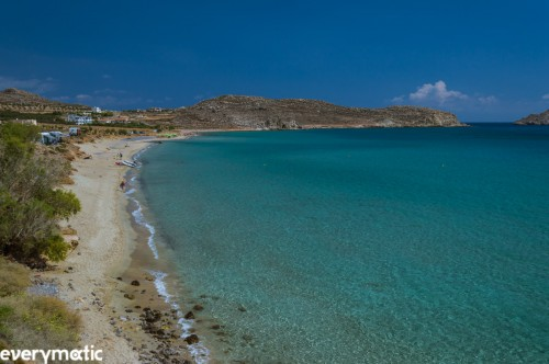 Xerokabos, a shallow shelf beach perfect for small children.