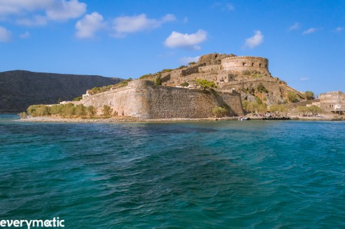 The islet of Spinalonga, former fortress, former leper colony of 'The Island' fame.